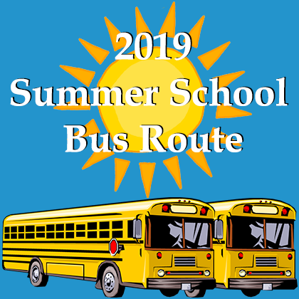 2019 Summer School Bus Route